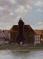 Obraz do salonu artysty Michał Janicki pod tytułem Żuraw, Gdańsk