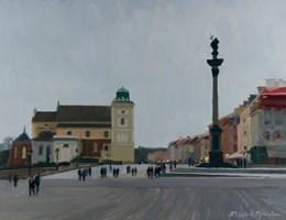 Obraz do salonu artysty Michał Janicki pod tytułem Plac Zamkowy, Warszawa