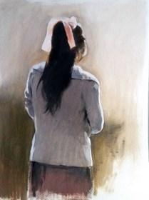Obraz do salonu artysty Jan Dubrowin pod tytułem Szkic olejny