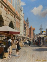 Obraz do salonu artysty Michał Janicki pod tytułem Stare Nabrzeże, Gdańsk