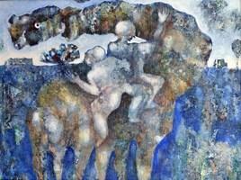 Obraz do salonu artysty Grzegorz Skrzypek pod tytułem Dwa plus jeden