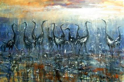 Obraz do salonu artysty Dariusz Grajek pod tytułem Ptaki....
