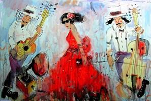 Obraz do salonu artysty Dariusz Grajek pod tytułem Panowie i dama.....