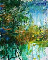 Obraz do salonu artysty Cyprian Nocoń pod tytułem Ogród wiosenny