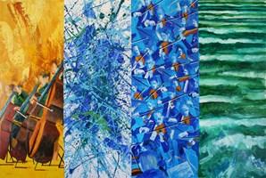 Obraz do salonu artysty Cyprian Nocoń pod tytułem Symfonia Bałtycka