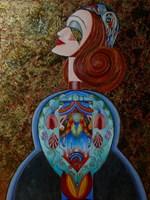 Obraz do salonu artysty Barbara Sikorski pod tytułem Zakochana kobieta