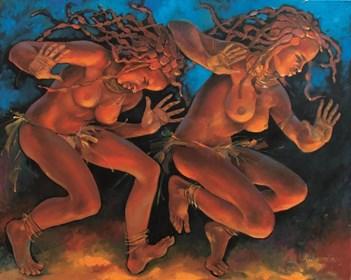 Obraz do salonu artysty Andrejus Kovelinas pod tytułem Egzotyczny taniec