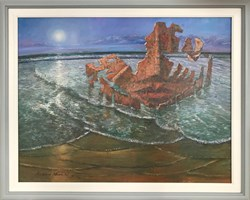 Living room painting by Andrzej Wroński titled Castaway