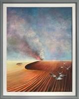Obraz do salonu artysty Andrzej Wroński pod tytułem Płonący żaglowiec