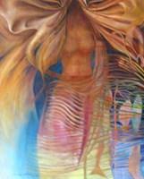 Obraz do salonu artysty Andrzej Wroński pod tytułem Kobieta z rybami
