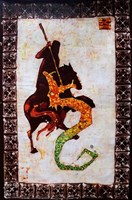 Living room painting by Joanna Czubak titled Saint George