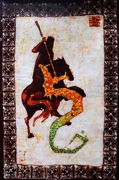 Obraz do salonu artysty Joanna Czubak pod tytułem Święty Jerzy