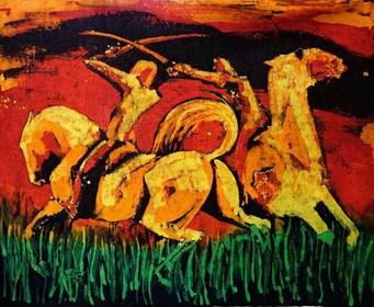 Obraz do salonu artysty Joanna Czubak pod tytułem Rycerze