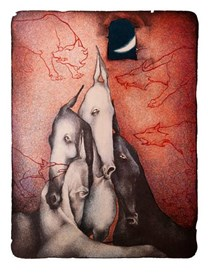 Grafika do salonu artysty Anna Starowoitowa pod tytułem 12-00