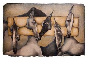 Grafika do salonu artysty Anna Starowoitowa pod tytułem Dyba