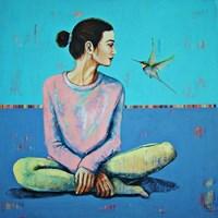 Obraz do salonu artysty Renata Magda pod tytułem Wiosenne szepty