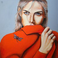 Living room painting by Renata Magda titled Dragonfly