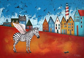 Obraz do salonu artysty Małgorzata Rukszan pod tytułem Pogoda w paski