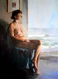 Obraz do salonu artysty Jan Dubrowin pod tytułem Penelopa