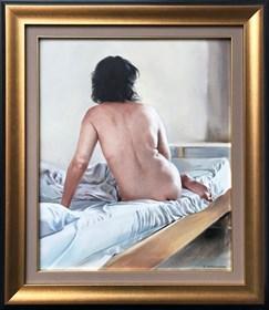 Obraz do salonu artysty Jan Dubrowin pod tytułem Akt w pracowni