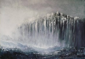 Obraz do salonu artysty Andrzej Fronczak pod tytułem W zawieszeniu