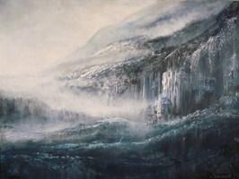 Obraz do salonu artysty Andrzej Fronczak pod tytułem W mglistej dolinie