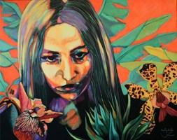 Obraz do salonu artysty Janina Zaborowska pod tytułem Ogrody VIII