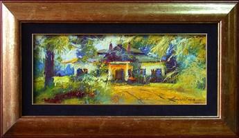 Obraz do salonu artysty Wacław Jagielski pod tytułem Rdzawski dwór