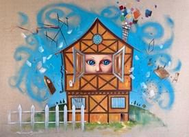 Obraz do salonu artysty Dariusz Ślusarsky pod tytułem Oczy tej małej