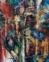 Obraz do salonu artysty Krystyna Róż-Pasek pod tytułem Zasłuchana w barwach