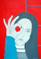Obraz do salonu artysty Maga Smolik pod tytułem Szał
