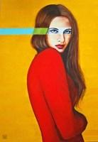 Obraz do salonu artysty Renata Magda pod tytułem Letnie zielono-cyjanowe myśli