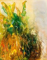 Living room painting by Aneta Barglik titled Emerald Garden