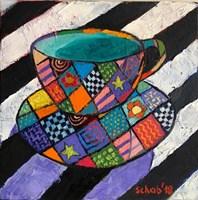 Obraz do salonu artysty David Schab pod tytułem Filiżanka z absyntem
