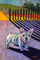 Living room painting by David Schab titled French Bulldog