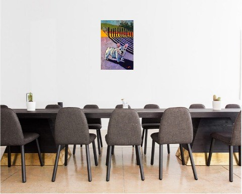 Buldog francuski - wizualizacja pracy autora David Schab