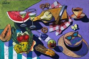 Living room painting by David Schab titled Picnic