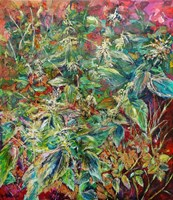 Living room painting by Katarzyna Kałdowska titled The Nettle