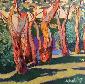 Living room painting by David Schab titled In the forest