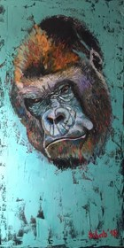 Obraz do salonu artysty David Schab pod tytułem Goryl