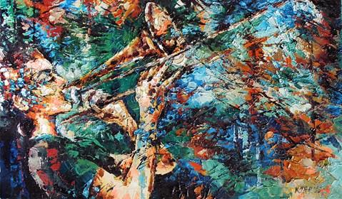 Obraz do salonu artysty Krystyna Róż-Pasek pod tytułem Ona I