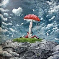 Living room painting by Martyna Mączka titled Mushroom