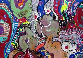 Obraz do salonu artysty Natalia Pastuszenko pod tytułem Przestrzeń pomiędzy