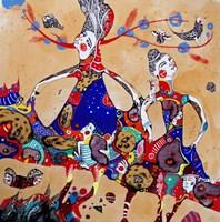 Obraz do salonu artysty Natalia Pastuszenko pod tytułem Roztańczone