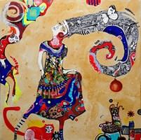 Obraz do salonu artysty Natalia Pastuszenko pod tytułem Sukienka