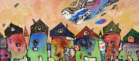 Obraz do salonu artysty Natalia Pastuszenko pod tytułem Muzyka miasta-1
