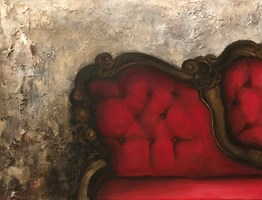Living room painting by Klaudia Choma titled Silence