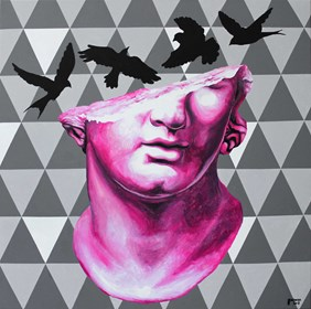 Obraz do salonu artysty Zuzanna Jankowska pod tytułem Pink head