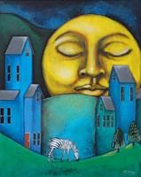 Obraz do salonu artysty Małgorzata Rukszan pod tytułem Pogoda w paski - Przed snem