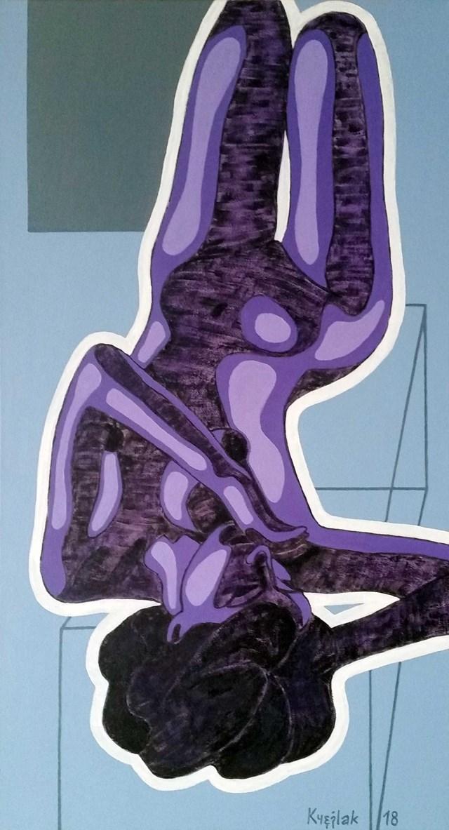 Obraz do salonu artysty Robert Krężlak pod tytułem Błękit